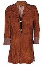Mens Firefly Nathan Fillion Malcolm Reynolds Suede Leather Coat image 1