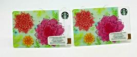 Starbucks Coffee 2015 Gift Card Spring Flowers Pink Yellow Zero Balance ... - $12.02