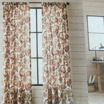 "Threshold 2 Panel Set Light Filtering Curtain Warm Jacobean Floral 40"" x 84"" NEW - $19.79"