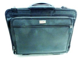 Port Laptop Briefcase Textile Padded Security Bag 17x14x6 - $27.45