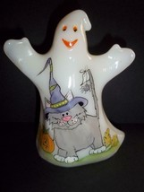 "Fenton Glass ""Cats In Witch Hats"" Halloween Ghost Figurine LE of 20 FAGC... - $252.15"
