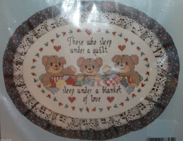 Stitchables 7795 A Blanket of Love Counted Cross Stitch Kit 5x7 New Oval... - $17.39