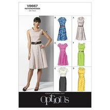VOGUE PATTERNS V8667 Misses' Petite Dress, Size F5 (16-18-20-22-24) - $6.99