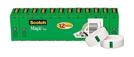 Scotch Magic Tape, Standard Width, Numerous Applications, Matte Finish, ... - $23.47