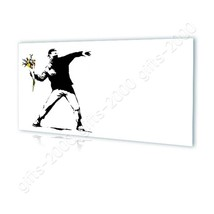 CANVAS (Rolled) Flower Thrower Banksy Canvas For Home Decor Painting Oil... - $13.62+