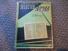 Old Vintage 1941 Everybody's Favorite Selected Songs Book #45 Schumann A... - $9.99