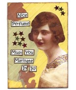 ACEO ATC Art Card Collage Original Ladies Women Girls Perfume Stars - $5.00