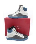 NIB Salvatore Ferragamo Mens Stephen 2 Leather High-Top Sneakers Shoes 7.5 - $345.00