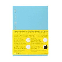 STALOGY 018 Editor's Series 1/2 Year Notebook (A6/Blue) Ship From Japan - $23.75