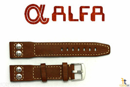 22mm Brown Smooth Leather RIVET Watch Band Strap Fits Luminox Anti-Allergic - $37.75