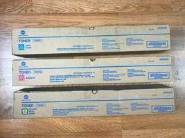 Lot of 3 Konica Minolta TN620 CMY Toner For Bizhub Pro C1060L Same Day S... - $321.75