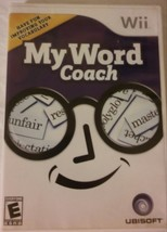 MY WORD COACH WII GAME COMPLETE WITH MANUAL - $6.89