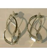 Sterling Silver Twisted Oblong Hoop Earrings 15g Vintage - $29.99