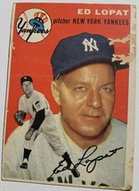 ORIGINAL1954 TOPPS PITCHER EDMUND LOPAT NEW YORK YANKEES BASEBALL VINTAG... - $39.60