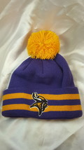 NFL Minnesota Vikings Kid's Breakaway Knit Beanie w/ Pom - $11.83