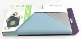 """Targus Fit-n-Grip THZ66202GL Carrying Case Folio for 7-8"""" Tablet Blue Silver NEW image 4"""