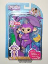 PURPLE MIA - FINGERLINGS Interactive Finger Pet Baby Monkey REAL FINGERL... - $35.99