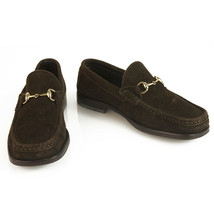 GUCCI dark brown suede leather moccasins loafers flat shoes 35.5 C - $287.10