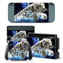 Nintendo Switch Skin Console & Joy-Con Controller White Tiger Vinyl Wrap Decal - $11.85