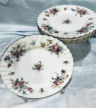 "Minton England China Marlow S-309 Wreath Backstamp - 10 Salad Plates 7 7/8"" - $32.62"