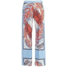 Emilio Pucci Feather Print Silk Pants - $549.00