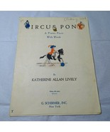 Vintage Circus Pony Piano Sheet Music with Words Katherine Allan Lively - $9.89