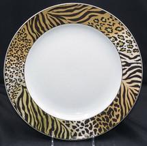 Studio Nova Jungle Beat ROUND PLATTER / CHOP PLATE Leopard Tiger Print, ... - $14.84