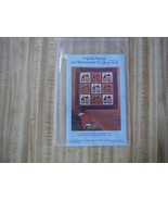 Quilt Pattern and Instructions Schoolhouse Wall Quilt  - $2.48