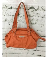 "Kathy Van Zeeland Orange Purse Handbag 14"" X 9"" - $35.64"