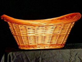 Handmade Woven Wicker Basket with Double Handles AA-191710  Vintage Collectible image 3