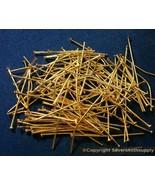 Placcato Oro Gioielli Spilli con Testa 100 3.5cm 35mm 20 Spessore Rotond... - $1.74