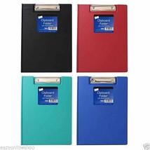 A4 Vinyl Clipboard Cover File Holder Folder Wallet Clip Board Fold Over ... - $3.50+