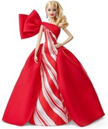 Holiday Barbie Doll 2019 in Posh Princess Red and White Satin Gown, Mattel - €40,37 EUR