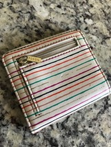 Women's Fossil Mini Snap Together Striped Wallet with Zip Pouch  - $14.84