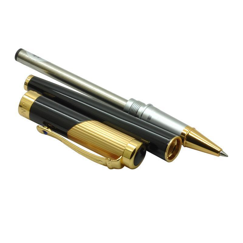 Jinhao 9009 Luxury Gold Rollerball Pen with Diamond Clip Smooth Metal Ballpoint