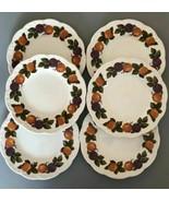 SET OF 6-J&G Meakin ORANGE GROVE Colonial English Ironstone Side Plates - $29.69