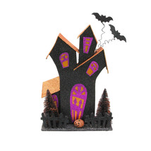 "Melrose 12"" LED Glitter Drenched Halloween Haunted House Table Top Decor - $52.21"