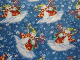 Vignettes de Bonhomme Neige Family-Blue B/G * / Blanc Snowflakes- General - $18.63