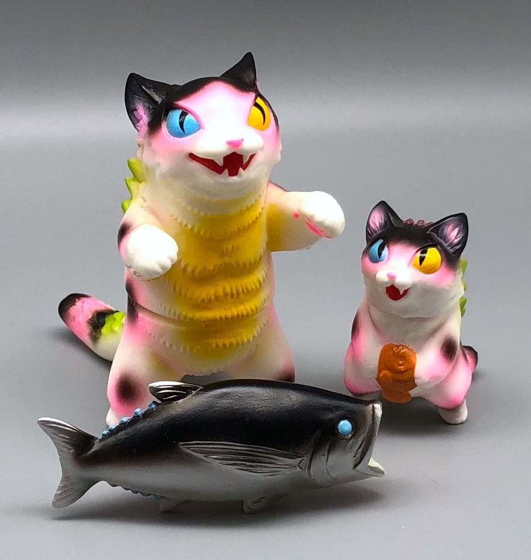 Max Toy Pink Spotted Odd-Eye Negora and Micro Negora w/ Fish - Rare