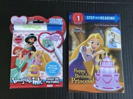 Disney Princess Imagine Ink Magic Marker Book & Step 1 Easy Reader Book ... - $9.99
