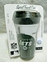 NFL Licensed NEW YORK JETS 3-D Holographic 16oz Spirit Travel Mug & Lid-Football - $12.95