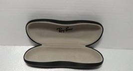 Ray Ban Clamshell Hard Case Sunglass Eye Glasses Black Case Only Cloth Included - $45.33