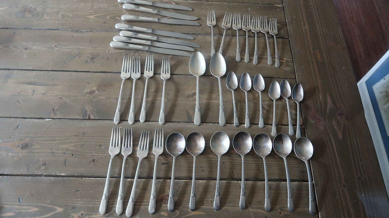 """6 Rogers Bros ANNIVERSARY Silverplated 7-5//8"""" Iced Tea Spoons"""