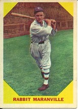 1960 Fleer Rabbit Maranville 21 Braves EX - $1.00