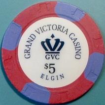 $5 Casino Chip, Grand Victoria, Elgin, IL. W03. - $6.50