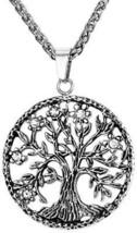 U7 Unisex Men Women Stainless Steel Wheat Chain Tree Of Life Pendant Necklace - $31.88