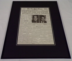 New York Times Nov 5 1952 Framed 16x20 Front Page Poster Dwight Eisenhow... - $79.19
