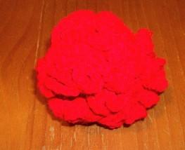 New Handmade Red Crochet Brain Ball Dog Toy For Cocker Spaniel Rescue Ch... - £6.71 GBP