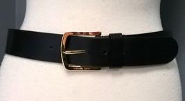 MICHAEL KORS Black Leather Gold Tone Logo Stamp... - $27.09