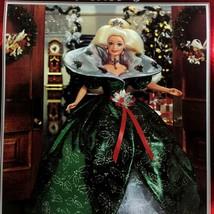 1995 Special Edition Happy Holidays Blonde Barbie Doll Green Dress MIB V... - $44.50